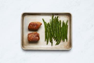 Roast Green Beans and Pork