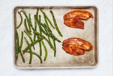 Roast Green Beans and Fish