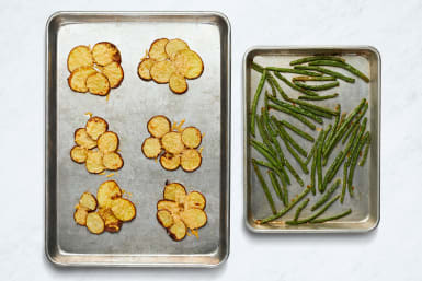 Roast Potatoes and Green Beans