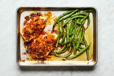 Roast Green Beans and Chicken