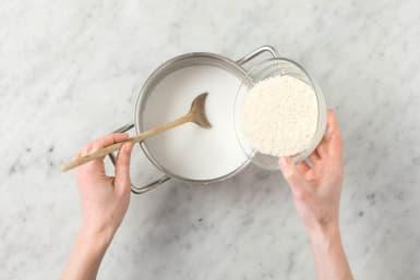 Kokosreis kochen