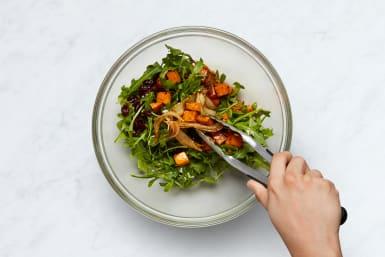 Finish Farro and Make Salad