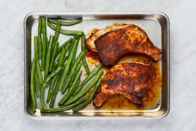 Roast Chicken and Beans