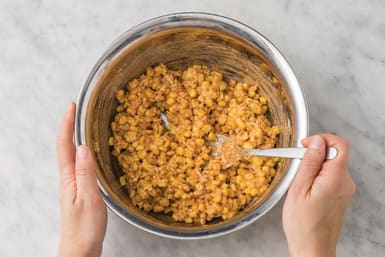 Make the fritter mixture