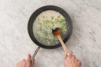 Cook the garlic & chilli rice