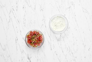 Make Salsa and Lime Sour Cream