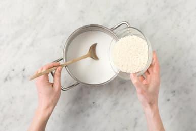 Make the coconut rice