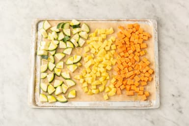 Gemüse backen