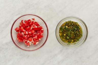 Make Chimichurri and Salsa