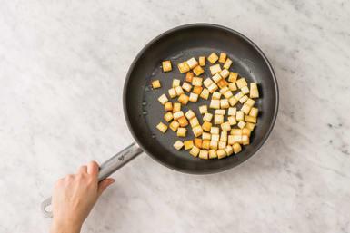 Pan-fry the paneer