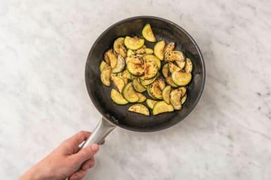 Zucchini braten