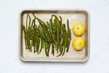 Roast Green Beans and Lemon