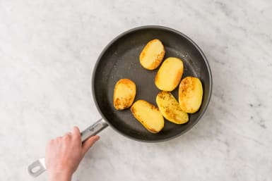 Cook Potatoes and Prep