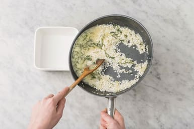 Start the risotto