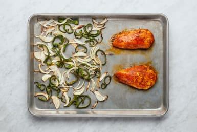Cook Chicken & Veggies