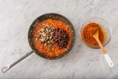 Stek svamp- och bönröra