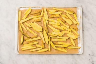 bake the rosemary fries