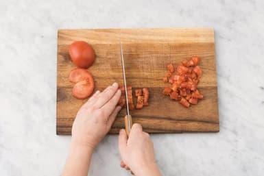 make the tomato salad