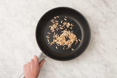 toast slivered almonds