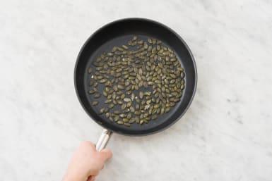 Griller les graines de courge