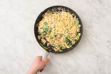 Tillsätt spaghetti