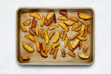 Roast Potatoes and Make Garlic Mayo