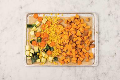 Roast the veggies