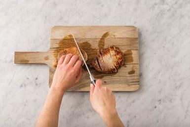 Finish the pork