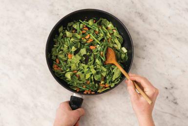 Cook the veggies
