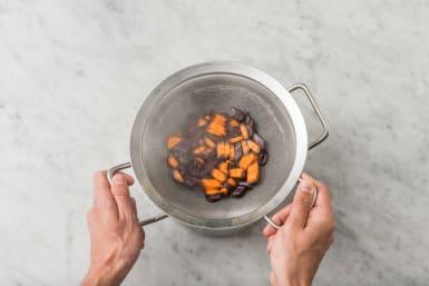 Ångkoka morötter