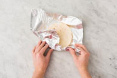 Tortilla verwarmen