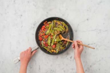 Gemüse glasieren