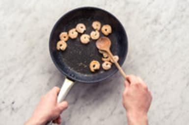 Cuire les crevettes