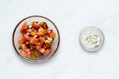 Make Salsa and Lime Sour Cream