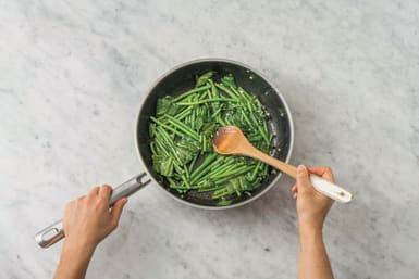 cook lemon butter greens