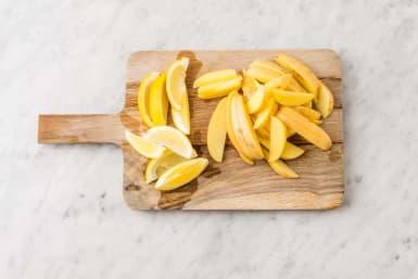 Förbered citron & potatis
