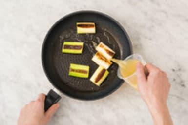 Braiser le poireau et préparer la purée