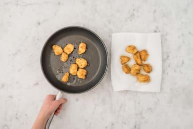 Préparer les nuggets de poulet