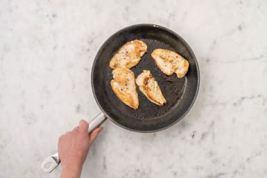 Pan-fry the chicken