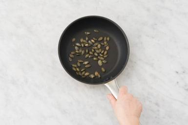 Faire sauter les graines de courge
