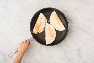 Cook the quesadillas