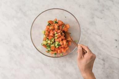 Make the tomato salsa