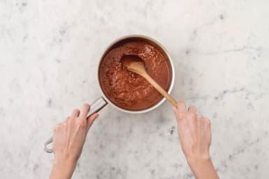 Make the parmigiana sauce