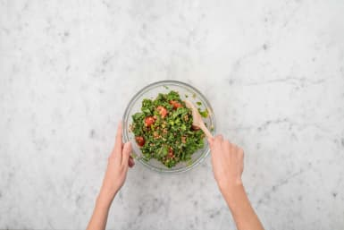 MAKE TABBOULEH and MIX SAUCE