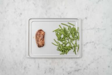 Roast Steak and Beans