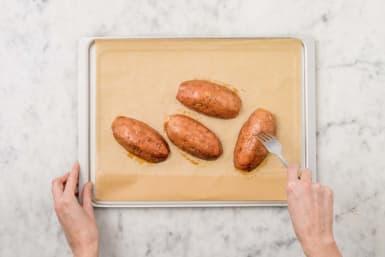 Süßkartoffeln backen