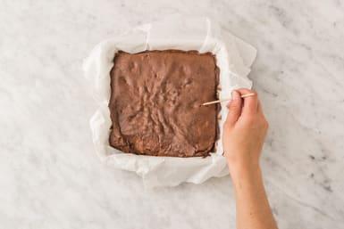 Bake the brownies