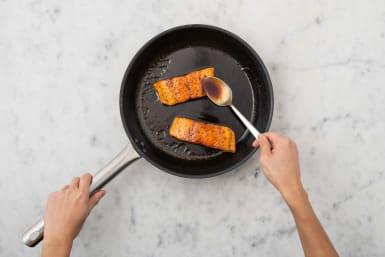 Laquer le saumon