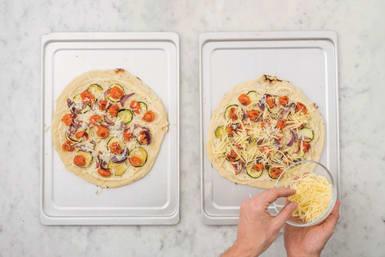 Prep the pizzas