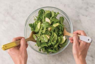 Finish the salad